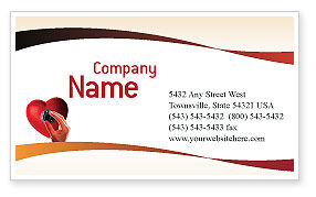 Key To Heart Business Card Template, 02333, Consulting — PoweredTemplate.com