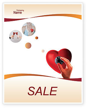 Key To Heart Sale Poster Template, 02333, Consulting — PoweredTemplate.com