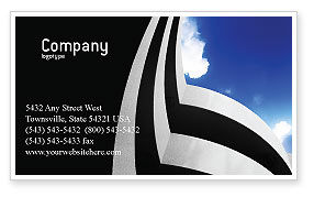 Construction: Modern Building Business Card Template #02335