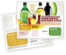 Food & Beverage: Modèle de Brochure de dégustation de vin blanc #02342
