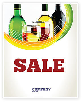 Food & Beverage: White Wine Tasting Sale Poster Template #02342