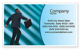 Careers/Industry: Career Climbing Business Card Template #02346