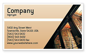 Book Shelf Business Card Template, 02347, Education & Training — PoweredTemplate.com