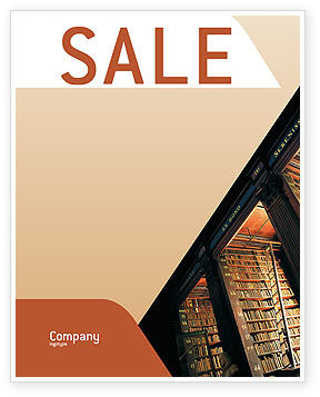 Education & Training: Book Shelf Sale Poster Template #02347
