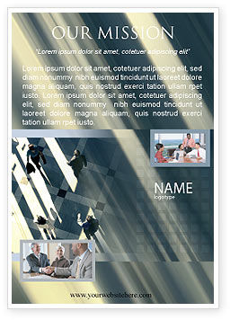 Mensen Advertentie Template, 02350, Business — PoweredTemplate.com