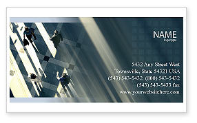 Business: People Business Card Template #02350
