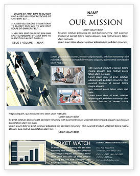 People Newsletter Template, 02350, Business — PoweredTemplate.com