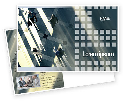 Business: People Postcard Template #02350