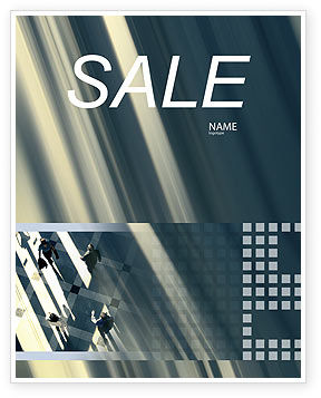 People Sale Poster Template, 02350, Business — PoweredTemplate.com