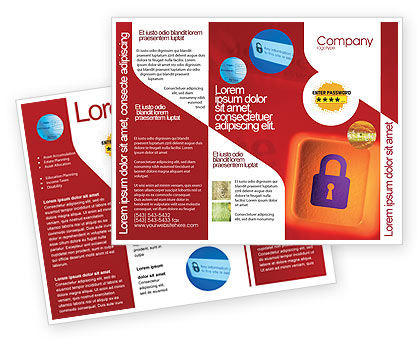 Site Security Brochure Template, 02352, Technology, Science & Computers — PoweredTemplate.com