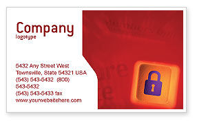 Site Security Business Card Template, 02352, Technology, Science & Computers — PoweredTemplate.com