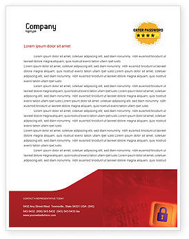 Technology, Science & Computers: Site Security Letterhead Template #02352