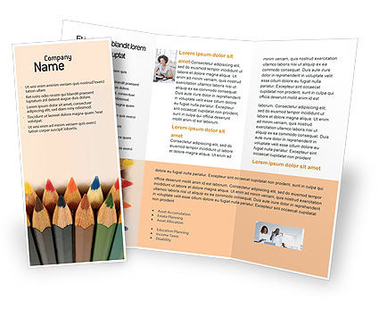 Color Pencil Brochure Template, 02353, Business Concepts — PoweredTemplate.com