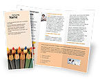 Business Concepts: Color Pencil Brochure Template #02353