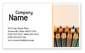 Business Concepts: Color Pencil Business Card Template #02353