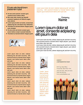 Business Concepts: Templat Flyer Pensil Warna #02353