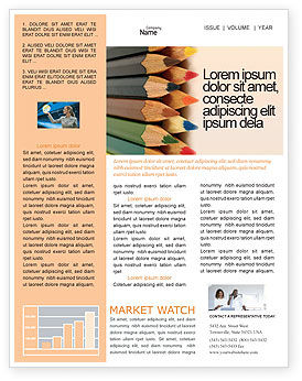 Business Concepts: Color Pencil Newsletter Template #02353