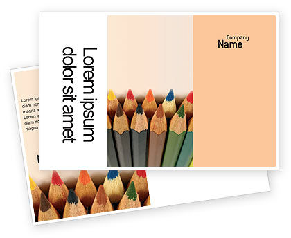 Color Pencil Postcard Template, 02353, Business Concepts — PoweredTemplate.com