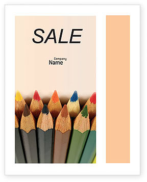 Color Pencil Sale Poster Template, 02353, Business Concepts — PoweredTemplate.com