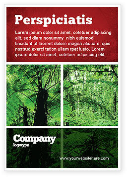 Tropical Forest Ad Template, 02355, Nature & Environment — PoweredTemplate.com