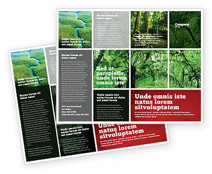 Nature & Environment: Modèle de Brochure de forêt tropicale #02355