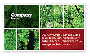 Tropical Forest Business Card Template, 02355, Nature & Environment — PoweredTemplate.com