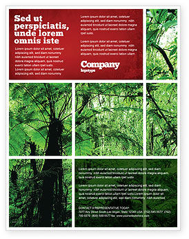Tropical Forest Flyer Template, 02355, Nature & Environment — PoweredTemplate.com
