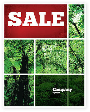 Tropical Forest Sale Poster Template, 02355, Nature & Environment — PoweredTemplate.com