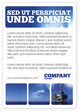 Utilities/Industrial: Boorplatform Advertentie Template #02356