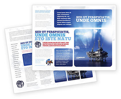 Utilities/Industrial: Drilling Platform Brochure Template #02356