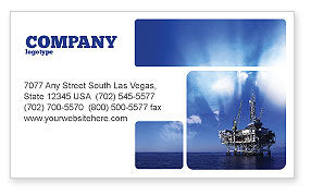 Drilling Platform Business Card Template, 02356, Utilities/Industrial — PoweredTemplate.com