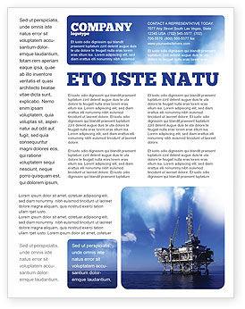 Utilities/Industrial: Templat Flyer Platform Pengeboran #02356