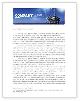Utilities/Industrial: Bohrplattform Briefkopf Vorlage #02356