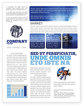 Drilling platform newsletter template for microsoft word for Free newsletter templates downloads for word