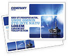 Utilities/Industrial: Drilling Platform Postcard Template #02356