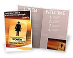 Business Concepts: Modello Brochure Gratis - Donne icona #02357