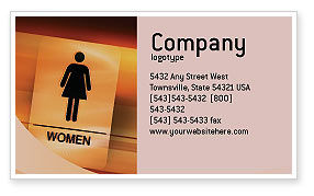 Business Concepts: Icon Women Business Card Template #02357