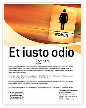 Business Concepts: Icon Women Flyer Template #02357