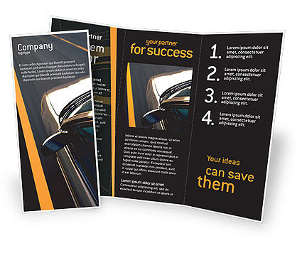 Car on highway brochure template design and layout for Car brochure template