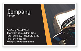 Cars/Transportation: Car On Highway Business Card Template #02358