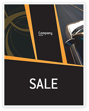 Car On Highway Sale Poster Template, 02358, Cars/Transportation — PoweredTemplate.com