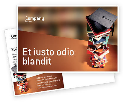 Education & Training: Plantilla de la postal - estudios académicos #02359