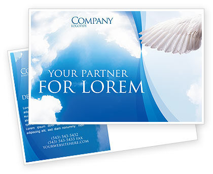 Holy Spirit Postcard Template, 02361, Religious/Spiritual — PoweredTemplate.com