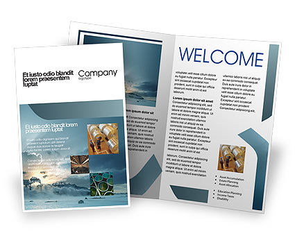 Power Station Brochure Template, 02362, Utilities/Industrial — PoweredTemplate.com