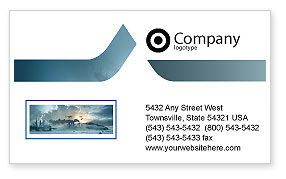 Power Station Business Card Template, 02362, Utilities/Industrial — PoweredTemplate.com