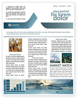 Utilities/Industrial: Power Station Newsletter Template #02362