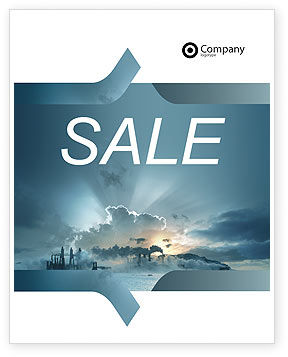 Power Station Sale Poster Template, 02362, Utilities/Industrial — PoweredTemplate.com