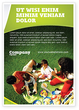 Family Picnic Ad Template, 02364, People — PoweredTemplate.com