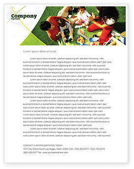 People: Family Picnic Letterhead Template #02364