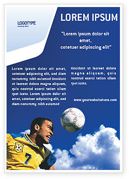Sports: Head In Soccer Ad Template #02365